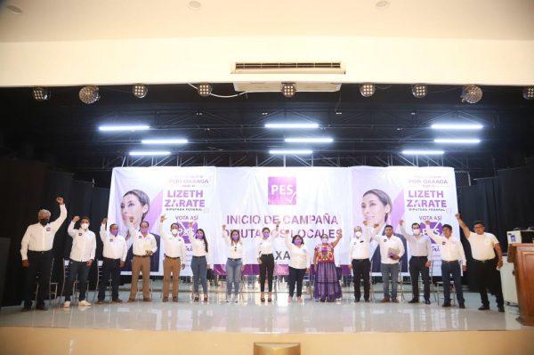 Presenta Partido Encuentro Solidario a candidatos a Diputados Locales en Oaxaca
