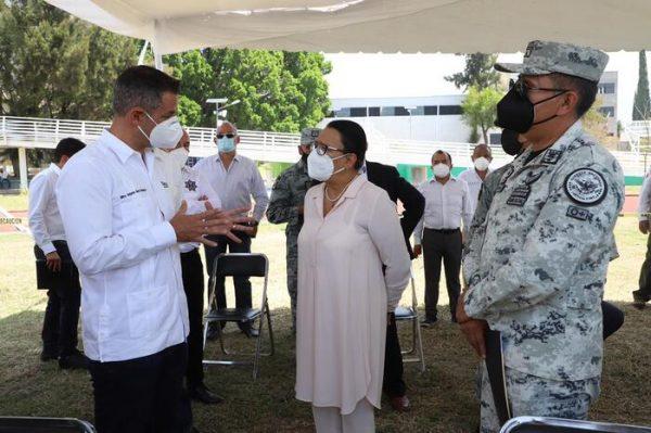 Anuncian gobernador Alejandro Murat y secretaria de Seguridad Pública, Rosa Icela Rodríguez, plan de vacunación para sector educativo oaxaqueño