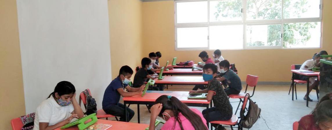 Escuela de Oaxaca reanuda clases presenciales pese a pandemia