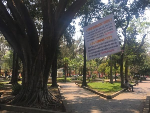 Vecinos piden que Jardín Conzatti en Oaxaca, no sea usado para eventos políticos y comerciales