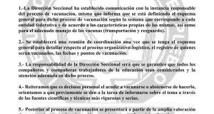 Del 28 de abril al 4 de mayo vacunarán a maestros de Oaxaca