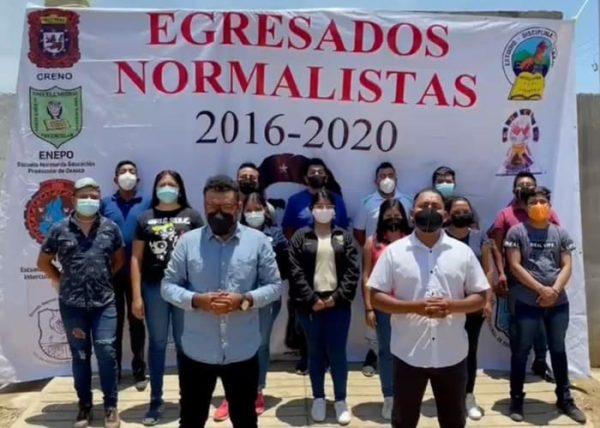 Egresados normalistas se deslindan de actos vandálicos realizados por el CENEO