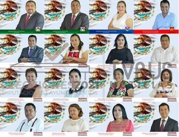 Estos son los Diputados Locales que participarán en la elección