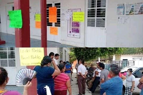 Toman palacio de Chiltepec, exigen obras y apoyos para sus comunidades