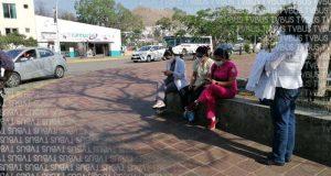 Fracasa en Oaxaca manifestación de médicos privados para exigir vacuna contra Covid, solo asistieron  cinco