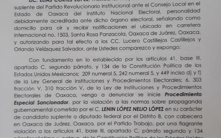 PRI presenta denuncia ante INE, por presunto uso de programas federales con fines electorales