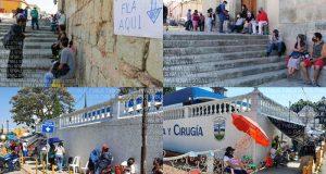 A 48 horas de que inicie aplicación de segunda dosis de vacunas en Oaxaca, se registran filas de personas