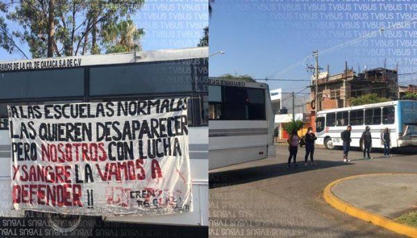 Continúan normalistas con manifestaciones en Oaxaca, IEEPO afirma que normales no desaparecerán