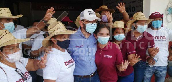 Inaugura Paco Niño, casa de campaña en Loma Bonita