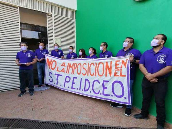 Burócratas exigen no imposición, ante prórroga de permanencia de dirigencia en el STPEIDCEO