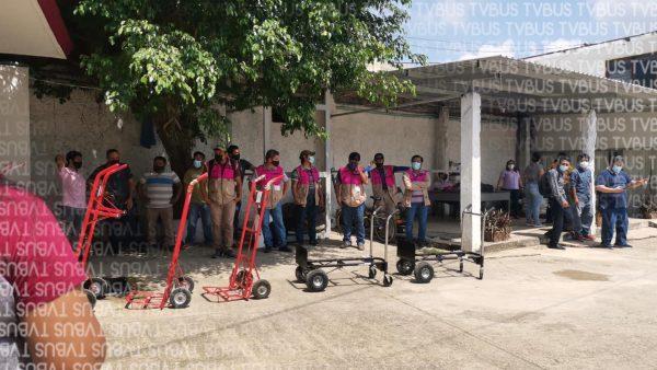 Personal del INE en Tuxtepec, realiza simulacro ante llegada de paquetería electoral
