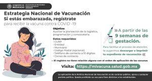 Comenzarán a vacunar a mujeres embarazadas contra covid-19