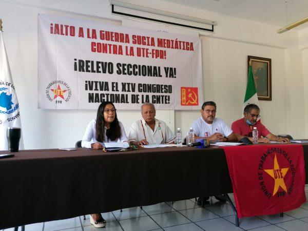 UTE pide renovación de dirigencia de la Sección 22, Secretario General negoció candidaturas denuncian
