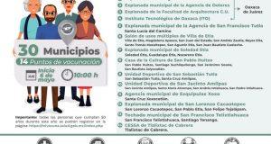 Aplicarán más de 56 mil vacunas contra Covid en 30 municipios de valles centrales