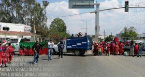 Otra vez activa MULTI bloqueos en la capital, denuncian incumplimiento del gobierno federal y estatal