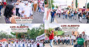 Continúa Luís Alberto Sosa con recorridos en municipios del distrito 12