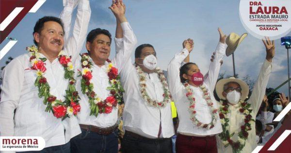 Pueblo de Tuxtepec respalda a Morena en cierre, triunfo será contundente este 6 de junio