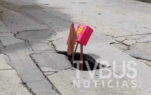 Perforado el casco urbano de Tuxtepec; hay 5 nuevos socavones
