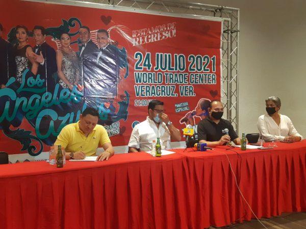 Con Ángeles Azules regresan conciertos a WTC Veracruz