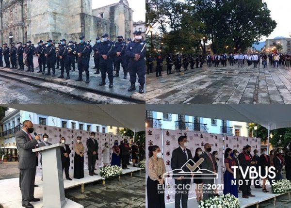 Con acto cívico, inicia jornada electoral en Oaxaca