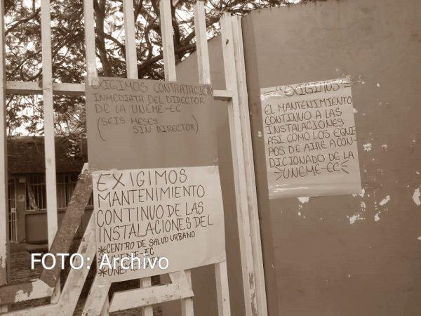 Por respuestas a medias, continua paro en centro de salud de Loma Alta en Tuxtepec