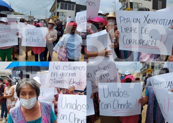 Seguidores de Chente Castellanos, exigen recuento voto por voto en Xoxocotlán