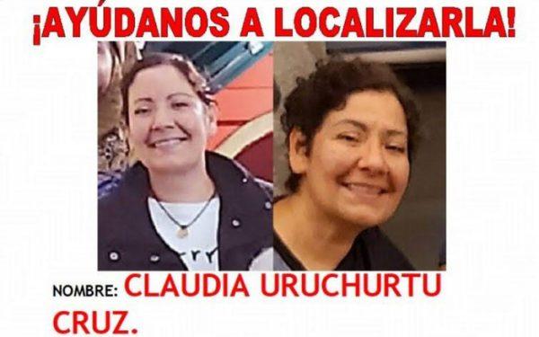 Reanudan labores de búsqueda de Claudia Uruchurtu