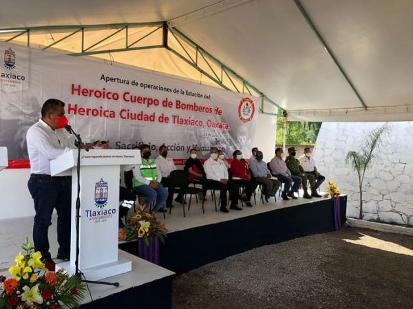Inauguran en Tlaxiaco estación de bomberos