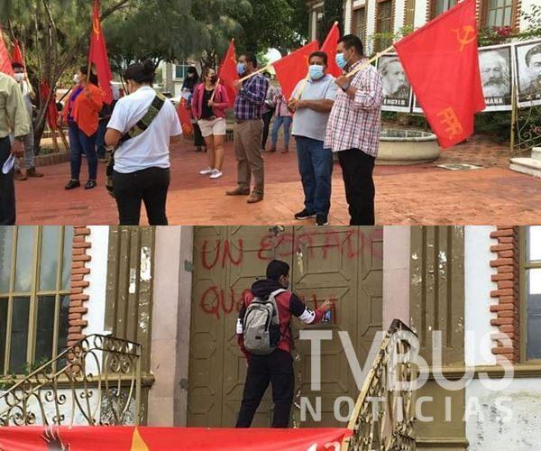 Una vez más se manifiesta FPR en la Fiscalía de Oaxaca