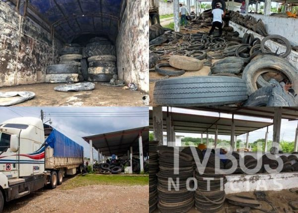 Suman 75 toneladas de llantas entregadas a cementeras para reciclaje: Ayuntamiento de Tuxtepec