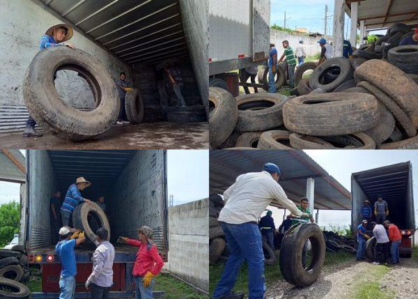 El Gobierno Municipal coordina el reciclaje  de 10 toneladas de llantas con cementera