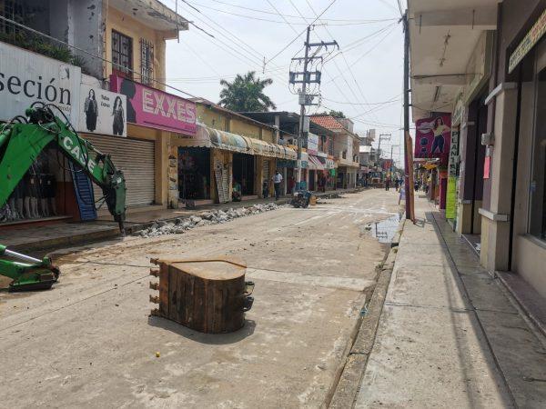 De pesadilla la obra de rehabilitación de agua potable en Tuxtepec