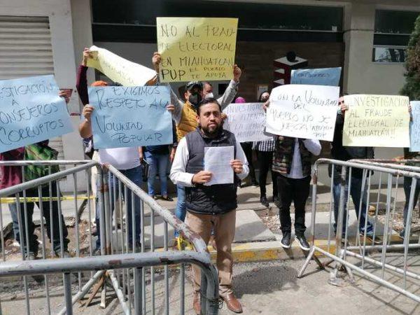 Presidente Electo de Miahuatlán, denuncia intento de fraude por parte del PAN