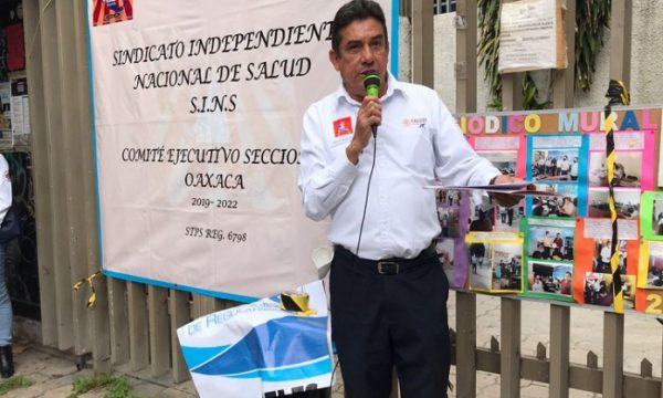 Sindicato Independiente Nacional de Salud (SINS) se manifiesta en Junta de Conciliación