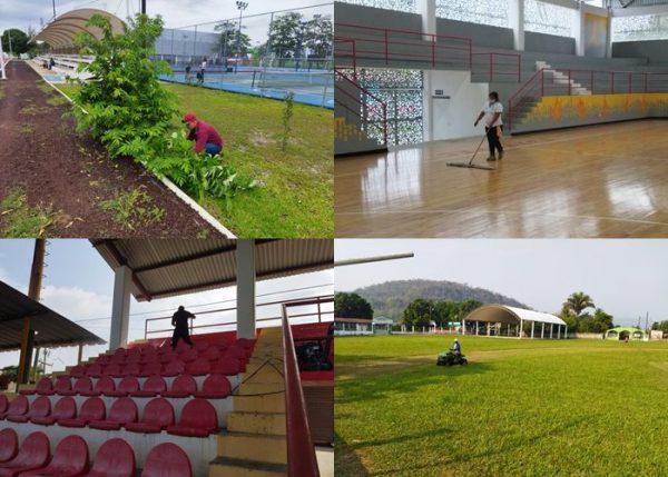 Atiende el Gobierno Municipal de Tuxtepec, necesidades de campos y diversos espacios deportivos