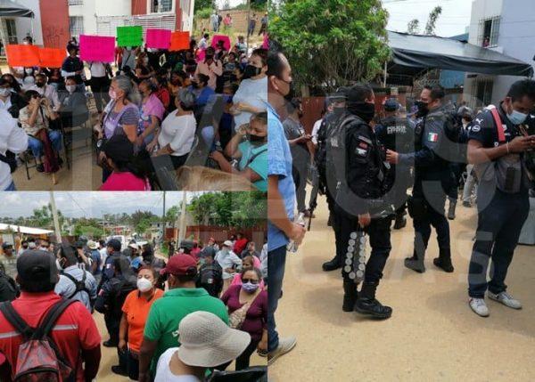 Confrontación entre habitantes de Xoxocotlán; denuncian supuesto intento de robo de urnas