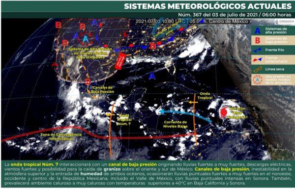 CEPCO se mantiene alerta por onda tropical número 07