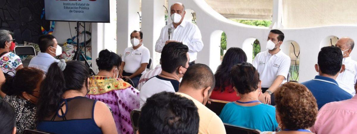 Realiza IEEPO recorrido en la Costa para el diálogo y consenso en temas educativos