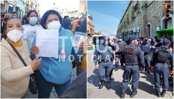 Ayuntamiento de Oaxaca nos cobró para instalarnos, ahora nos lo impide; denuncian ambulantes