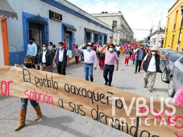 Nuevamente Antorcha Campesina marcha en Oaxaca, denuncian falta de atención de autoridades