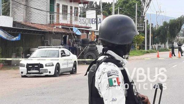 Dos personas lesionadas, saldo de enfrentamiento entre Guardia Nacional y AEI