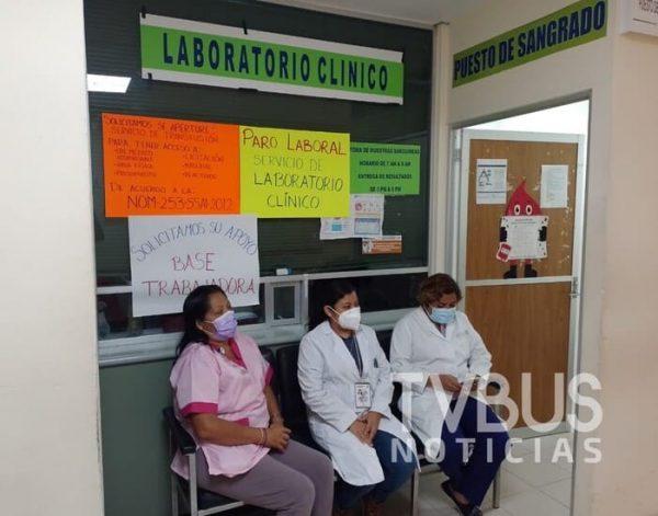 Latente paro en Hospital de Tuxtepec por falta de insumos; ahora en área de laboratorio