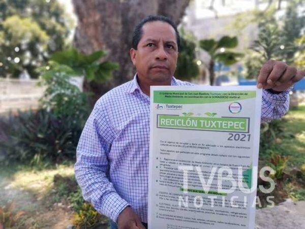 Anuncian el Reciclón Tuxtepec; recopilarán aparatos electrónicos