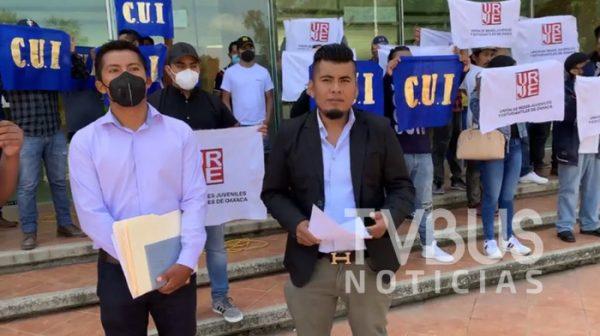 Unión de Redes Juveniles y Estudiantiles de Oaxaca, pide a UABJO ampliar matrícula