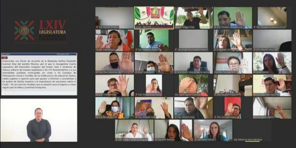 Demanda Congreso de Oaxaca, reforzar concientización sobre la importancia de la vacuna anticovid