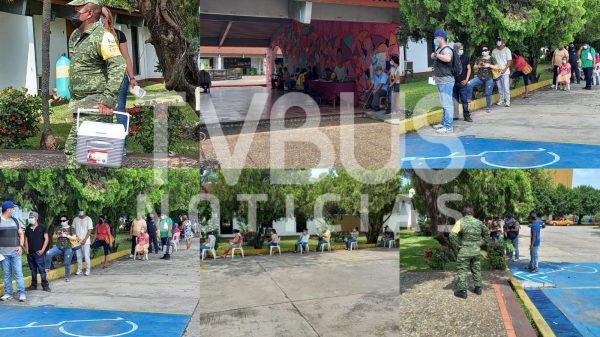 En fin de semana 2 mil 300 personas se vacunaron contra el Covid en Tuxtepec