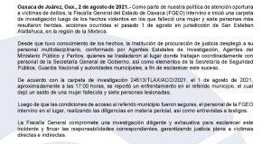 Inicia Fiscalía de Oaxaca investigación por ataque armado en Atatlahuca