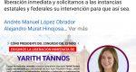 Cumple Diputada Yarith Tannos 3 días retenida en San Juan Mazatlán Mixe