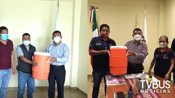 Tunden en redes a Diputado Daniel Gutiérrez por regalar termos a autoridades municipales