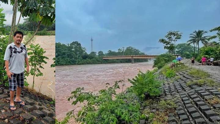 """Artista vallense realiza poema por fuertes lluvias  """"La noche más oscura con sus aguas"""""""